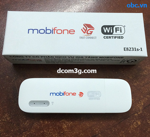 USB 3G Mobifone Fast Connect E8231s-1 phát 3g wifi